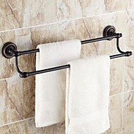 """Towel Bar Oil Rubbed Bronze Wall Mounted 625 x 90x125mm (24.6 x 3.54 x 4.92"""") Brass Traditional"""