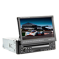 7 tommers 1DIN TFT-skjerm In-Dash Car DVD-spiller med GPS, BT, RDS, iPod, Touch Screen