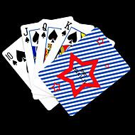Személyre szabott ajándék star Pattern Playing Card Poker