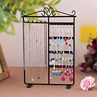 32 Holes Metal Holder Display Organizer For Women's Earrings Necklace Pendant