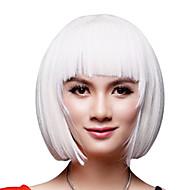 Capless Short Bob White Synthetic Wig