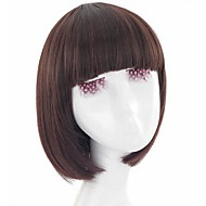 Korea Capless Short Straight Synthetic Full Bang Wigs