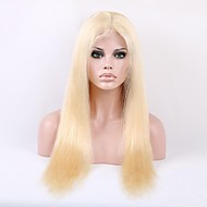 Volledige Zwitserse Lace 20 Inch Licht blond # 613 Color Silky Straight Indian Remy Human Hair Wig