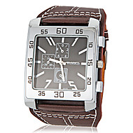 Men's Watch Flat and Wide Shape Square Dial Wrist Watch Cool Watch Unique Watch Fashion Watch