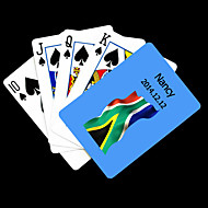 Personalized Gift Blue South Africa Flag Pattern Playing Card