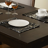 A Motifs Polyester Rectangulaire Sets de table