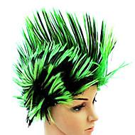 Cristate parrucca sintetica colori misti più colori disponibili