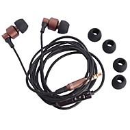 m3 auscultadores de 3.5mm nos fones de canal com as mãos livres com microfone para iPhone (120cm)