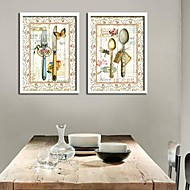 Still Life Framed Canvas / Framed Set Wall Art,PVC White No Mat With Frame Wall Art
