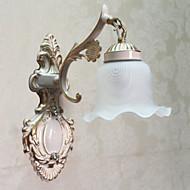 Nástěnné svítidlo, 1 světlo, Classic Metal Malování na sklo