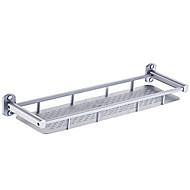 Contemporary Aluminum Single Shelf Bathroom Shelf