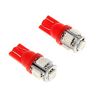 100X Ice Красный T10 5-SMD 5050 194 168 1.3W Автомобильные светодиодные индикаторные лампы Интерьер лампы