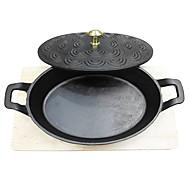 "Padnigr® Diameter 9"" Cast Iron Grill Pans, W24cmxL28cmxH7cm"