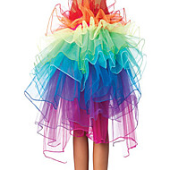 8 Layer Rainbow Tulle Bouffant Tail Women's Burlesque Party Dance Club Skirt