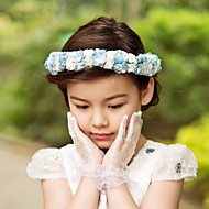 Women's / Flower Girl's Satin / Paper Headpiece-Wedding / Special Occasion / Outdoor Flowers