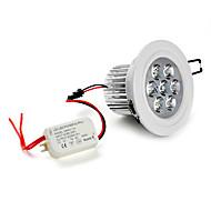 7W Lâmpada de Embutir / Lâmpada de Teto Encaixe Embutido 7 LED de Alta Potência 630 lm Branco Natural AC 85-265 V