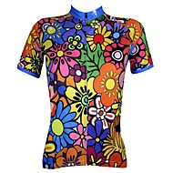 PaladinSport Women's Cycling Jersey Short Sleeves Spring and Summer Style 100% Polyester