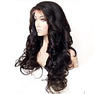 20inch Bella onda allentata indiani di 100% parrucca del merletto dei capelli umani Glueless frontale con capelli del bambino