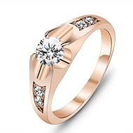 Prstenje Vjenčanje / Party / Dnevno Jewelry Kubični Zirconia / Pozlaćeni Žene Prstenje sa stavom6 / 7 Zlatna
