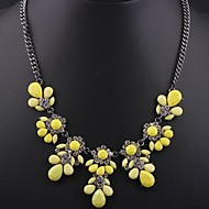 Women's Fluorescent Citrine Gemstone Necklace