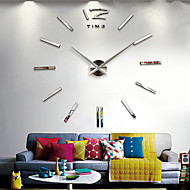 "40""H DIY 3D Mirror Acrylic Sticker Wall Clock"