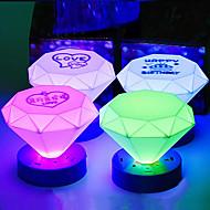Cone σχήμα πολύχρωμο ABS LED Night Light (Random Color)