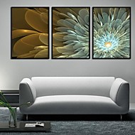 Abstract Flowers Framed Canvas Juego de 3
