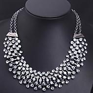 flash ultra-luxo transparente colar de diamantes de cristal das mulheres