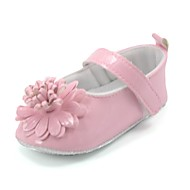 Patent Leather Girls' Flat Heel First Walkers Comfort Flats with Flower Shoes(More Colors)
