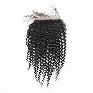 High Quality Brasilianske Hair Lace Lukning Kinky Curl Style 10inch På lager