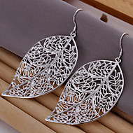 Simple Leaf Shape Silver Plated Foreign Trade Earring(Silver)(1Pair)