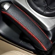 Xuji ™ Negro de cuero genuino de la cubierta del freno de mano para Honda Civic 2004-2011