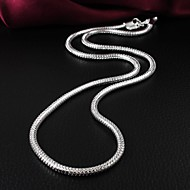 Brand Design Mode Brass Silver Plated Kvinnors Halsband