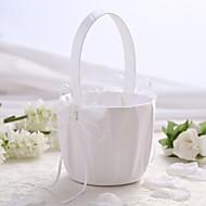 white satin bryllup blomsterkurv med butterfly utforming blomsterpike kurv