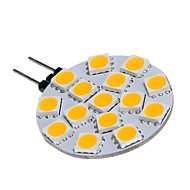 G4 15x5060SMD 3W 15LED теплый белый лампочки