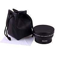 52MM 0.45X Wide Angle Lens Macro Lens Bag for Nikon D5000 D5100 D3100 D7000 D3200 D80 D90