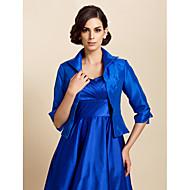 결혼식 랩 코트 / 재킷 긴 소매 태피터 로얄 블루 웨딩 / 파티/이브닝 / 캐쥬얼 티셔츠 오픈 프론트