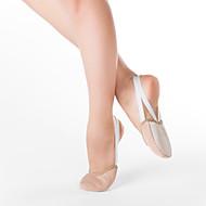 tecido meia sapatilha de balé com camurça de couro para fora único