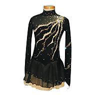 Ice Skating Dress Women's / Girl's Long Sleeve Skating Skirts & Dresses Figure Skating Dress Spandex Black Skating WearPerformance /
