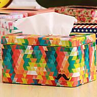 """3.8 """"H železitý Barevné Draw-off Tissue Box"""