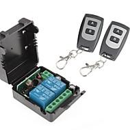 12V 2-kanálový bezdrátový Remote Power Modul relé s manželskou dálkovým ovládáním (DC28V-AC250V)