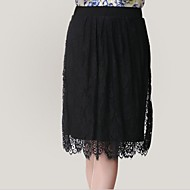 Women's Black Skirts , Bodycon/Casual/Lace/Party/Plus Sizes Knee-length