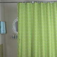 Minimalistický Green Polka Dots sprchový závěs