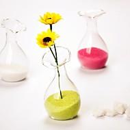 forme de fleur deocrations de table de vase en verre claires supérieures (sable non inclus, fleurs non inclus)