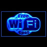 Gratis Wi-Fi reklameindslag LED Light Sign