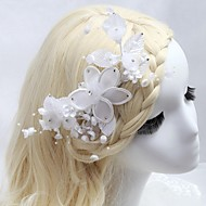 Women's/Flower Girl's Satin/Imitation Pearl/Cubic Zirconia Headpiece - Wedding/Special Occasion/Outdoor Hair Combs/Flowers
