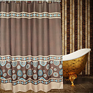European Minimalist Floral Shower Curtain