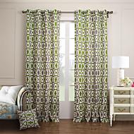 modernos dois painéis botânica floral verde cortinas quarto painel do algodão cortinas