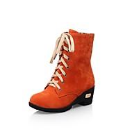 Sort / Brun / Gul / Rød / Orange - Tyk hæl - Kvinders Sko - Modestøvler - Ruskind - Hverdag - Støvler