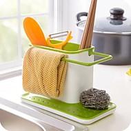 Einfach Kunststoff Stäbchen Küche Storage Halter (Farbe sortiert)